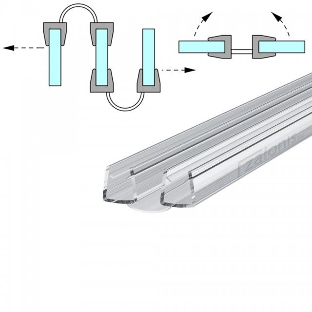 BI FOLD SHOWER SEAL FOR 6-8mm GLASS